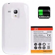 Poder Batería 3500mAh Para Galaxy S3 Mini i8190 Con Contraportada Blanco #a991