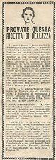 W8291 Crema TOKALON provate questa ricetta di bellezza - Pubblicità del 1926
