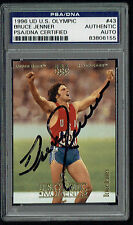 Bruce Jenner signed autograph auto 1996 Upper Deck Olympic Card PSA Slabbed