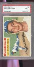1956 Topps #79 Sandy Koufax Brooklyn Dodgers NM PSA 7 Graded Baseball Card
