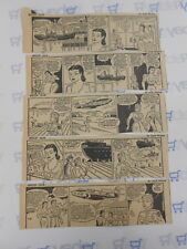 Lot of 5 Smilin' Jack by Zack Mosley Comic Strips July 9th-14th, 1945