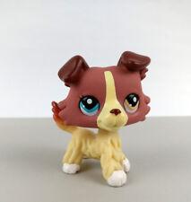Littlest Pet Shop LPS #1262 Puppy Plum Cream Collie Dog 2 Different Color Eyes