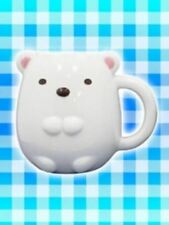 San-X Sumikko Gurashi Shirokuma Polar White Bear Die-cut Pottery Mug Cup Limited
