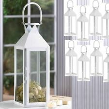 "Lot 30 Classic Lantern 15"" Tall Chic White Candle Holder Wedding Centerpieces"