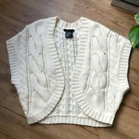 Theory White Cream Wool Angora Blend Knit Sweater Cardigan Vest Women's One Size