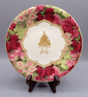 Set of 4 Pamela Gladding Poinsettia Christmas Tree Salad Desert Plates