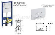 Geberit Duofix Basic UP100 WC-Element 112 cm + Delta 21 weiss + Schallschutzset