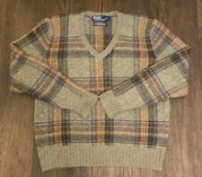 New listing Vintage Polo Ralph Lauren Wool Plaid Sweater Size Large