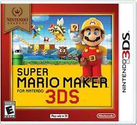 Super Mario Maker (Nintendo 3DS) Nintendo Selects / BRAND NEW
