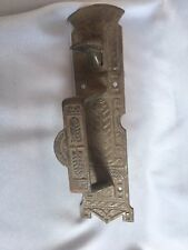 Antique Thumb latch Door Handle pull Old  Cast Iron Vtg Eastlake  269-17J