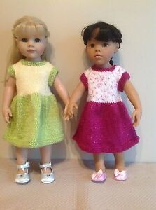 """Dolls Fashion clothes knitting  pattern to fit  18""""- 19"""" doll. Dress and cape."""