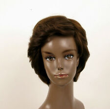 Peluca afro mujer 100% cabello natural castaño ref LAET 05/6
