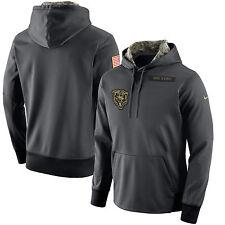 Mens 3XL Nike Chicago Bears Hoodie Anthracite Sweatshirt Salute to Service  XXXL