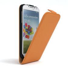 Tasche für Samsung Galaxy S4 Flip Case Schutz hülle Handy Cover orange