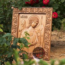 """26"""" Archangel Michael Icon Orthodox Wooden Carved  Medium. Christian Gift."""