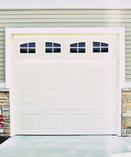 Garage Door Vinyl Decals: Carriage House Style Faux Windows Vinyl Only#A1