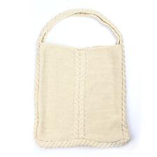 Aran tradizioni BIANCO PANNA Cavo Lavorato a Maglia Tote Shopping Bag