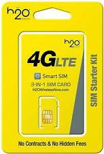 H2O Wireless 3 in 1 Sim Pre-Loaded of $20 1 Month Plan Included Read Description