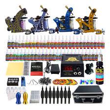Solong Tattoo Kit 4 Machine Guns 54 Color Inks Needles Power Supply Set Tip