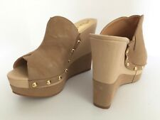 NEW (never worn!) Wedge Heels - in Nude - YOUR LEGS WILL LOOK EXTRA LONG!