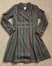 Neesh by D.A.R. Women's XS Wool Blend Striped Jacket Coat
