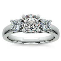 Real 1.60 Ct Round Diamond Engagement Solitaire Ring 14K White Gold Size 6 9.5 9