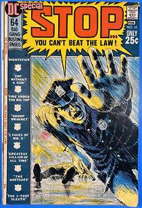DC SPECIAL #10 FN/VF (7.0) 1972 64 pg Police Crime Special  Meskin Moreira art