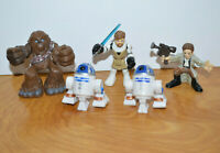 STAR WARS GALACTIC HEROES Action Figure Lot R2D2 Chewbacca Han Solo Obi-Wan
