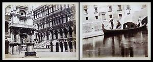 1890 Venezia Venedig Italia Gondola alla Riva Italien antique photo albumen Foto
