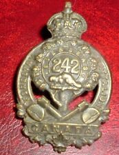 CAP BADGES-WW1 CANADIAN CEF 242nd FORESTRY BATTALION REF 242-2