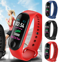 Smart Band Watch Bracelet Fitness Activity Tracker Blood Pressure Heart Rate M3.