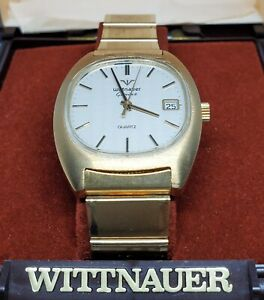 Vintage Mens Wittnauer Geneve Longines Swiss Movement Gold Tone Watch