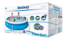 Bestway 57270 Quick-up Pool - 305 x 76cm, Blau mit Pumpe