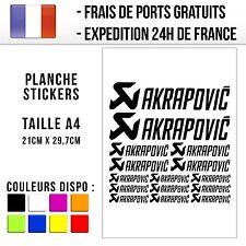 Planche de stickers / autocollants Moto - Akrapovic