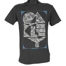 Oakley THE BIND T-Shirt Size XXL Dark Grey Mens Boys Slim Fit Print Cotton Tee