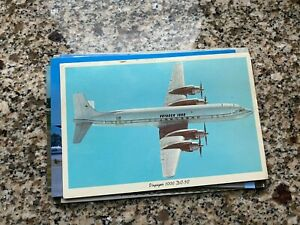 Voyager 1000 Travel Club Douglas DC-7 inflight airline issued postcard
