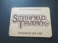 1 only TOOHEYS / SMITHFIELD TAVERN Special Issue collectable COASTER 1980,s
