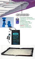FACTORY DIRECT OFFER-QUEEN 99% Waveless Lumbar Waterbed Mattress+Heater+Liner