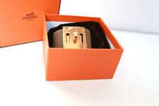 Hermes Bracelet Kelly Dog Etoupe In Swift With Rose Gold Hardware