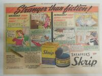 Sheaffer's  Pen Ad:  Sheaffer's Skrip Ink from 1945 Size: 11 x 15 inches