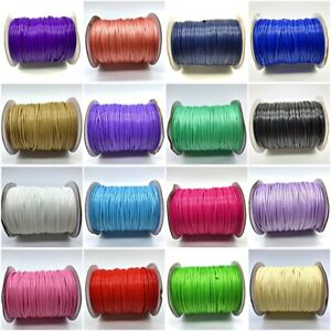 0.5-2mm Waxed Cotton Thread Cord String Strap Rope Beading Jewelry Making Craft