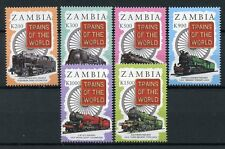 Zambia 1997 MNH Trains of World 6v Set Chemin de Fer Railways Rail Stamps