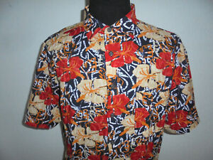 vintage Steve Ketell Hemd crazy pattern hawaii gemustert 90`s shirt XXL