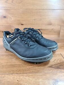 Ecco Men's Hydromax Natural Motion  Black Leather Golf Shoes Cleats Wide 44