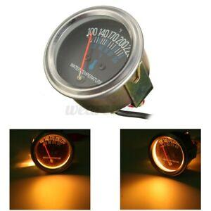 "2"" 52mm Pointer Mechanical Car Water Temp Temperature Gauge Black Face ℃ & ℉ USA"