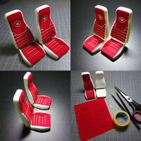 1:14 Upgrade DIY Suede Decorative Stickers Seats for Tamiya Scania RC Model Car