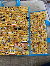 Emoji Bags Plastic (2) With Blue Plastic Handles