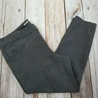 Old Navy Mid Rise Pixie Cropped Pants Womens 16 Black White Stretch