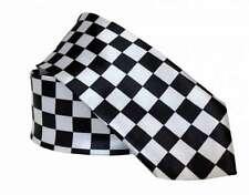 Krawatte Schwarz Weißes Schachmuster