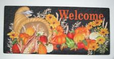"Harvest Cornucopia Sassafras Switch Mat  22""x10"" Evergreen Door Mat"